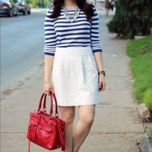 Loft Blue and White Stripe Nautical Thin Sweater